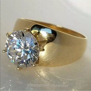 Diamond Solid 14k Gold Engagement Ring